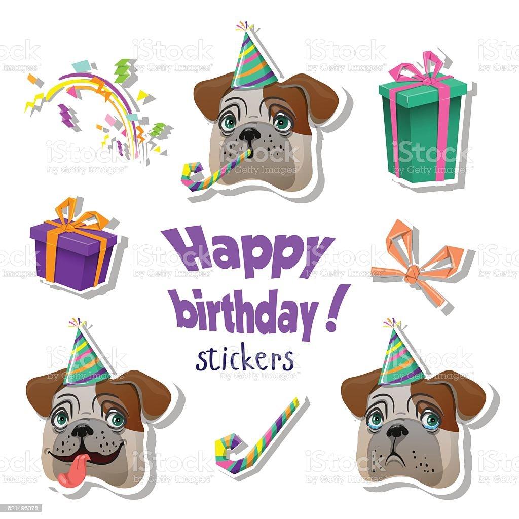 Colorful Happy Birthday greeting card. colorful happy birthday greeting card – cliparts vectoriels et plus d'images de anniversaire libre de droits