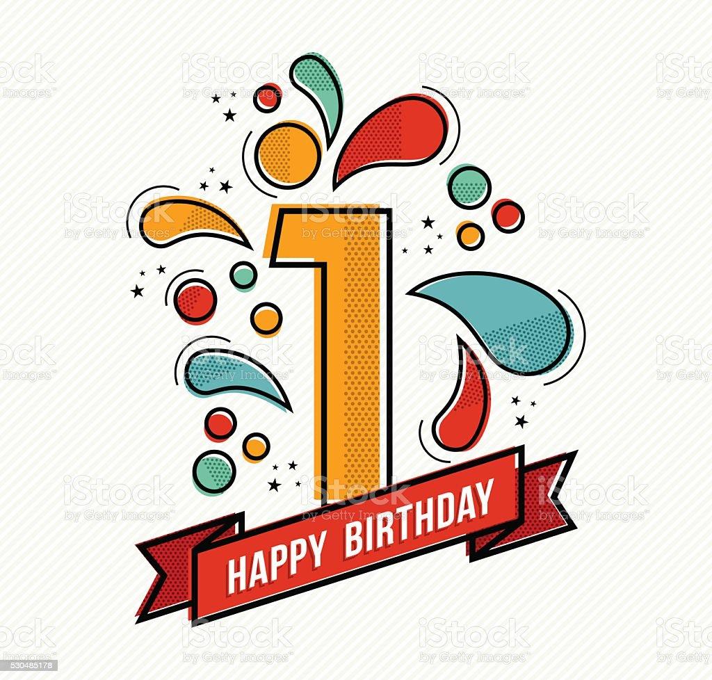 royalty free first birthday clip art vector images illustrations rh istockphoto com