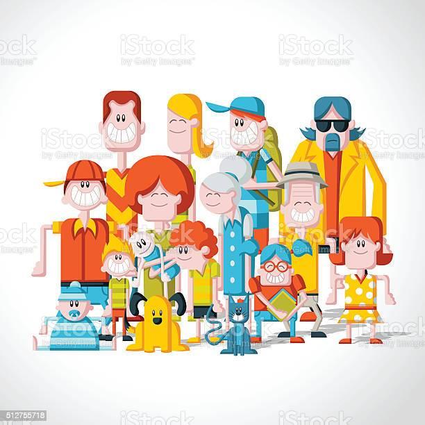 Colorful happy cartoon people vector id512755718?b=1&k=6&m=512755718&s=612x612&h=sicvi3gycmajeu9bzysseolon5vuyd5wbkg gqejzjk=