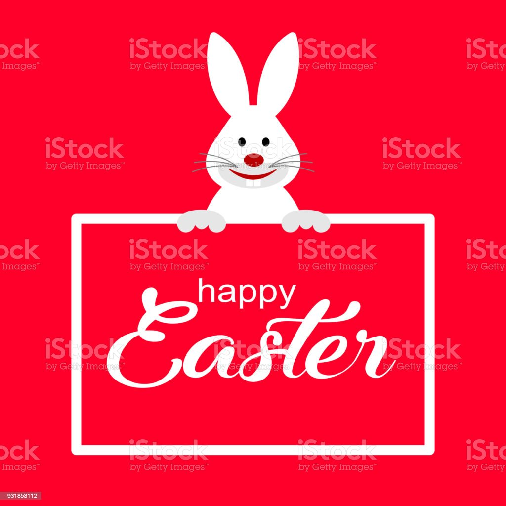 Colorful happy easter greeting card with rabbit stock vector art colorful happy easter greeting card with rabbit royalty free colorful happy easter greeting card m4hsunfo