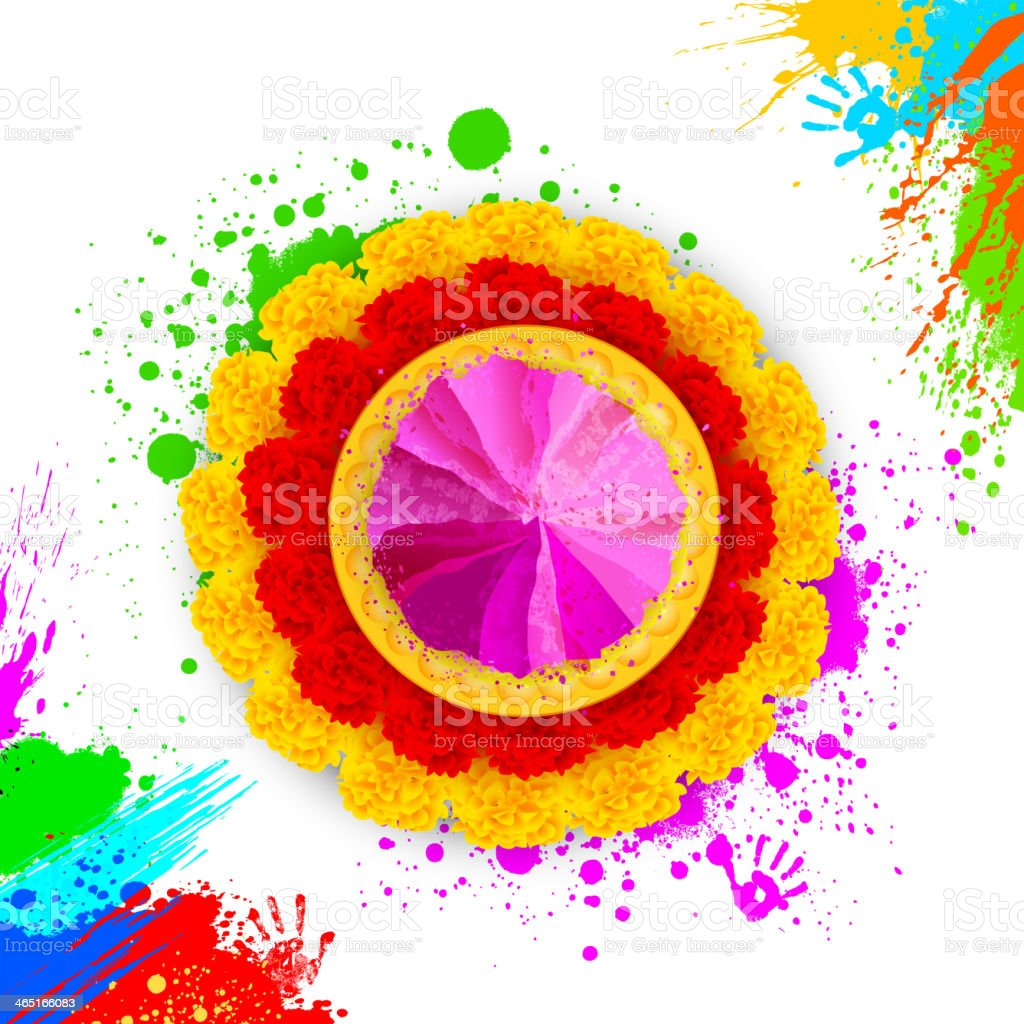 Colorful Happy Holi royalty-free stock vector art