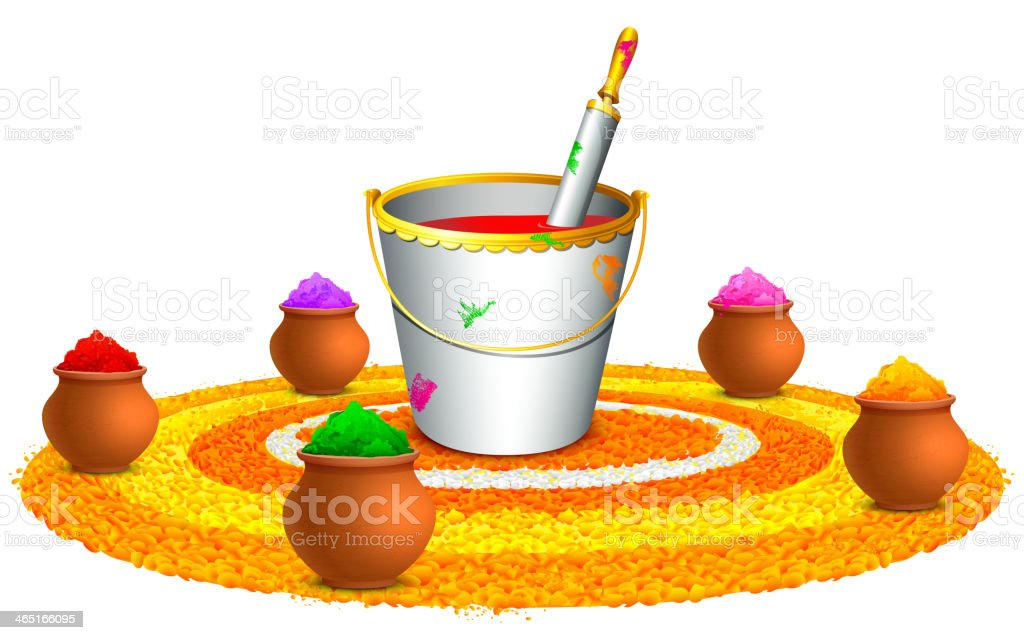 Colorful Happy Holi royalty-free stock vector art