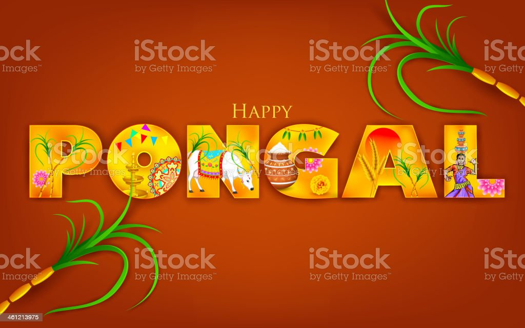 Colorful happy pongal greeting on red background stock vector art colorful happy pongal greeting on red background royalty free colorful happy pongal greeting on red m4hsunfo