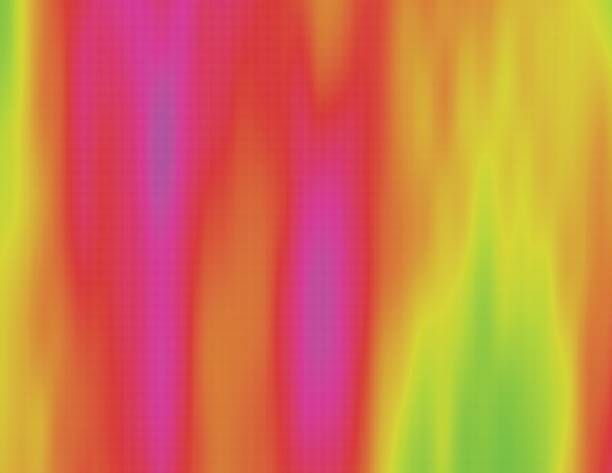 Colorful heat map Abstract psychedelic colorful illustration. Visual heat map. Flowing acid haze. Ethereal scientific background. Element of design. infrared stock illustrations