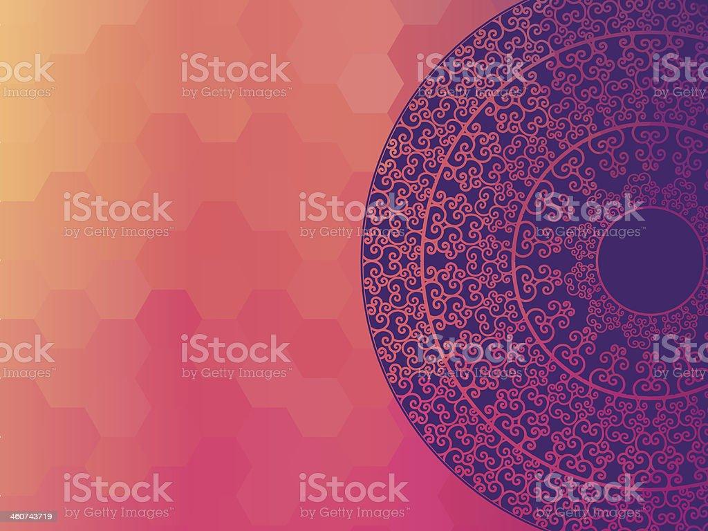 Colorful Henna Mandala design vector art illustration