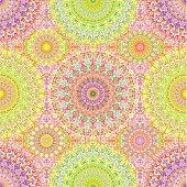 Colorful Hippie Mandala Seamless Pattern