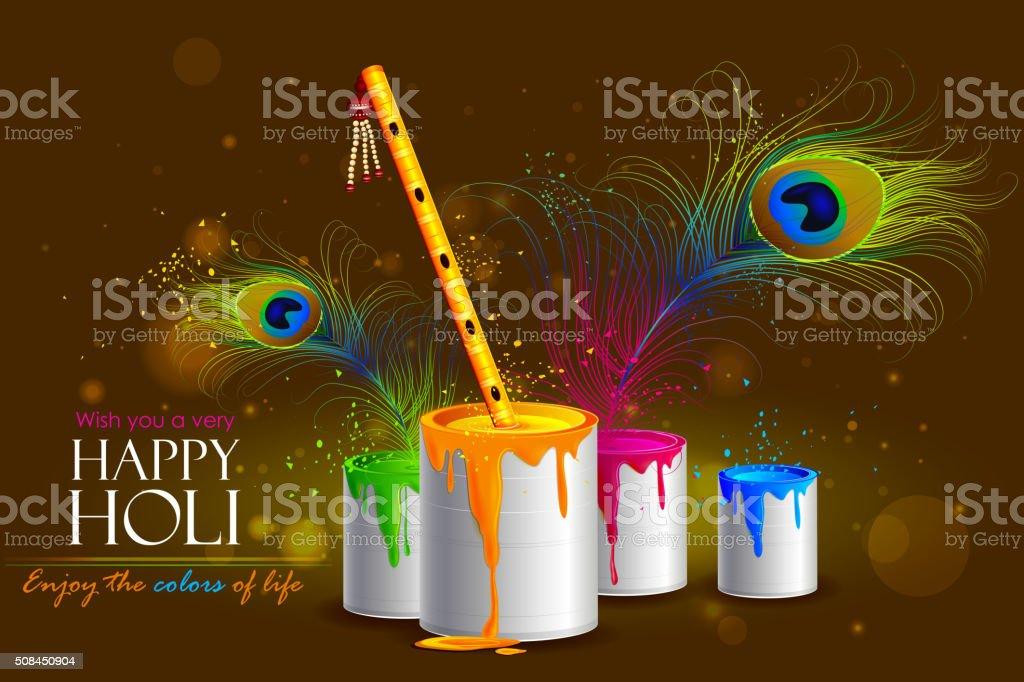 Colorful Holi background vector art illustration