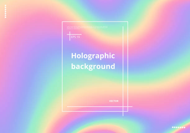 ilustrações de stock, clip art, desenhos animados e ícones de colorful holographic background - hologram