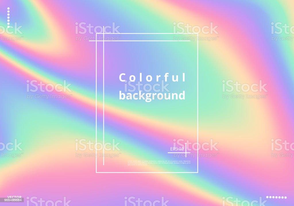 Färgglada holografiska bakgrund - Royaltyfri Abstrakt vektorgrafik