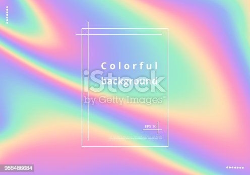 istock Colorful holographic background 955486684