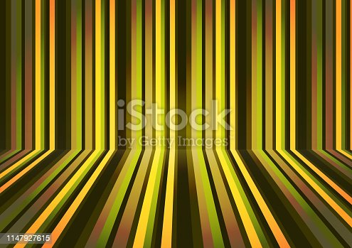 Colorful horizontal and vertical lines in perspective. Abstract geometric pattern. Vector illustration