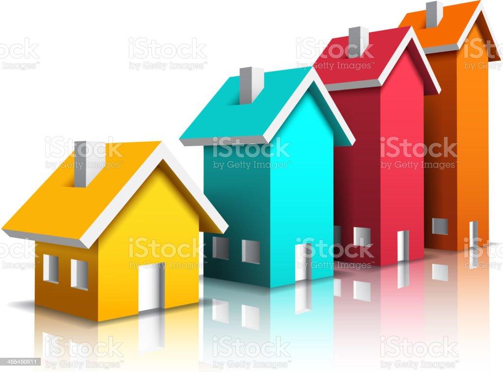 Farbenfrohe Häuser – Vektorgrafik