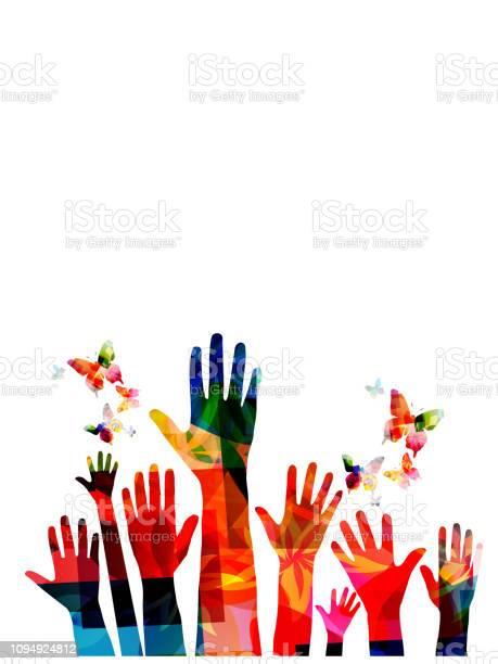 Colorful human hands with butterflies vector illustration design vector id1094924812?b=1&k=6&m=1094924812&s=612x612&h=fs qvyaukofstqhx993 li84g1hj cpuamb9qa715iu=