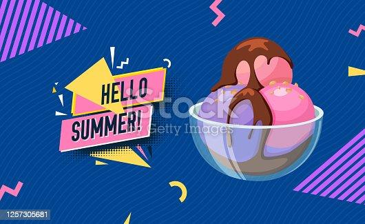 Summer season vector background template.