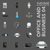 High quality colorful icons of Office Item, Document, File and Folder, Business Equipment. Flatlinge are the best pictogram pack, unique design for all dimensions and devices. Vector graphic, Logo, symbol and website content.