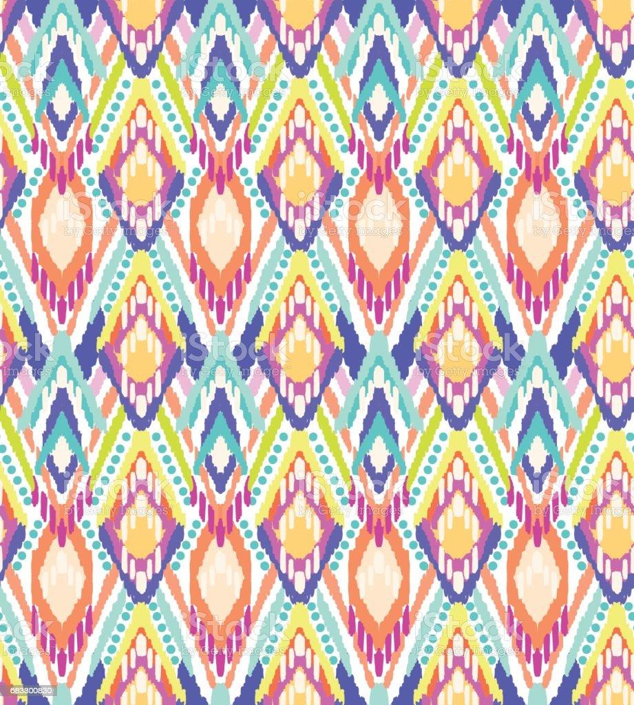 colorful ikat stripes print ~ seamless background royaltyfri colorful ikat stripes print seamless background-vektorgrafik och fler bilder på abstrakt