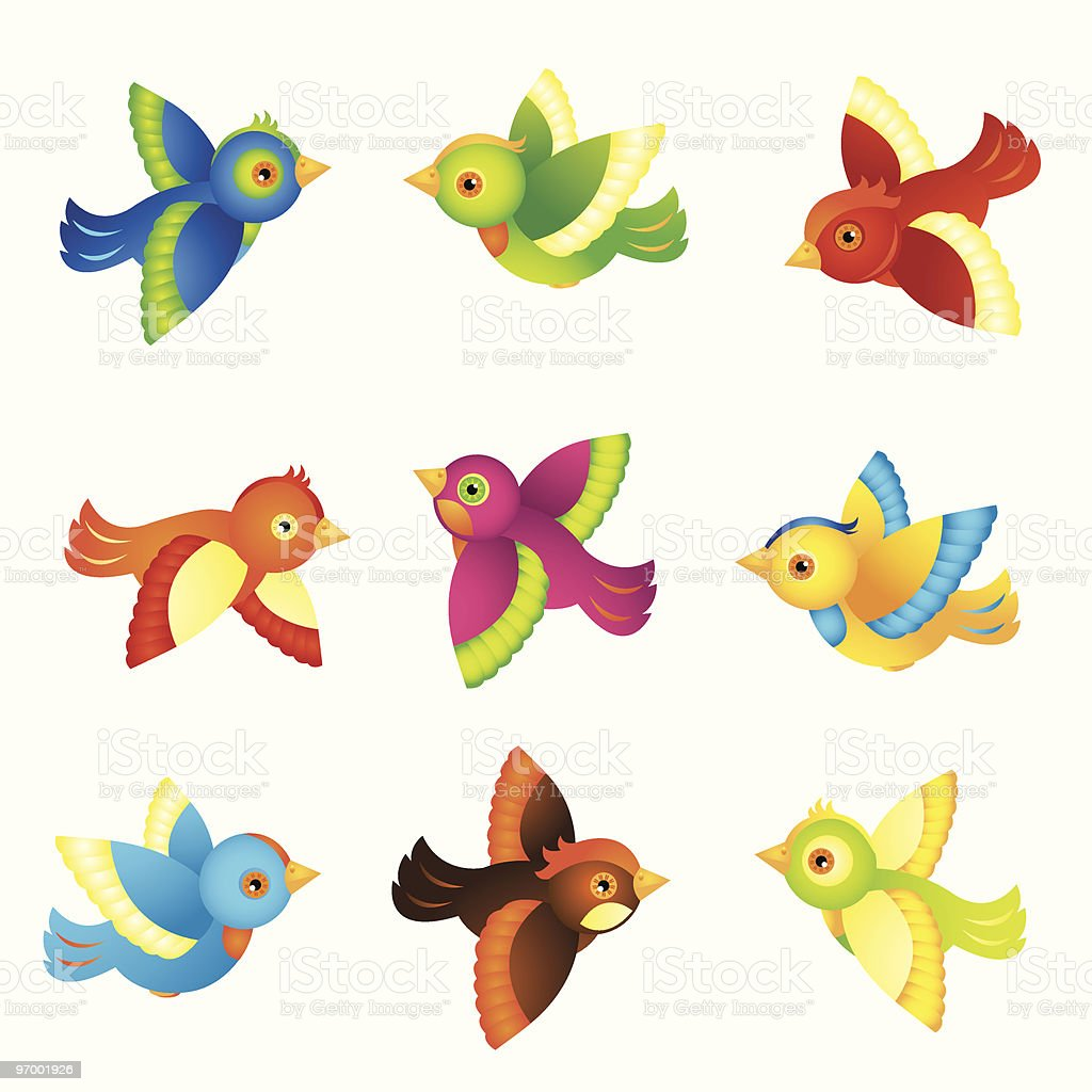colorful illustrated birds stock vector art amp more images