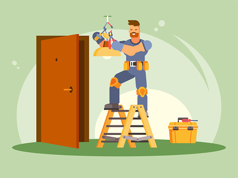 Electrician stock illustrations