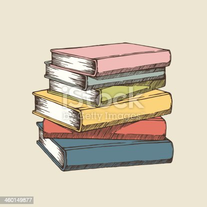 Vector illustration of books. EPS8, AI10, high res jpeg included.