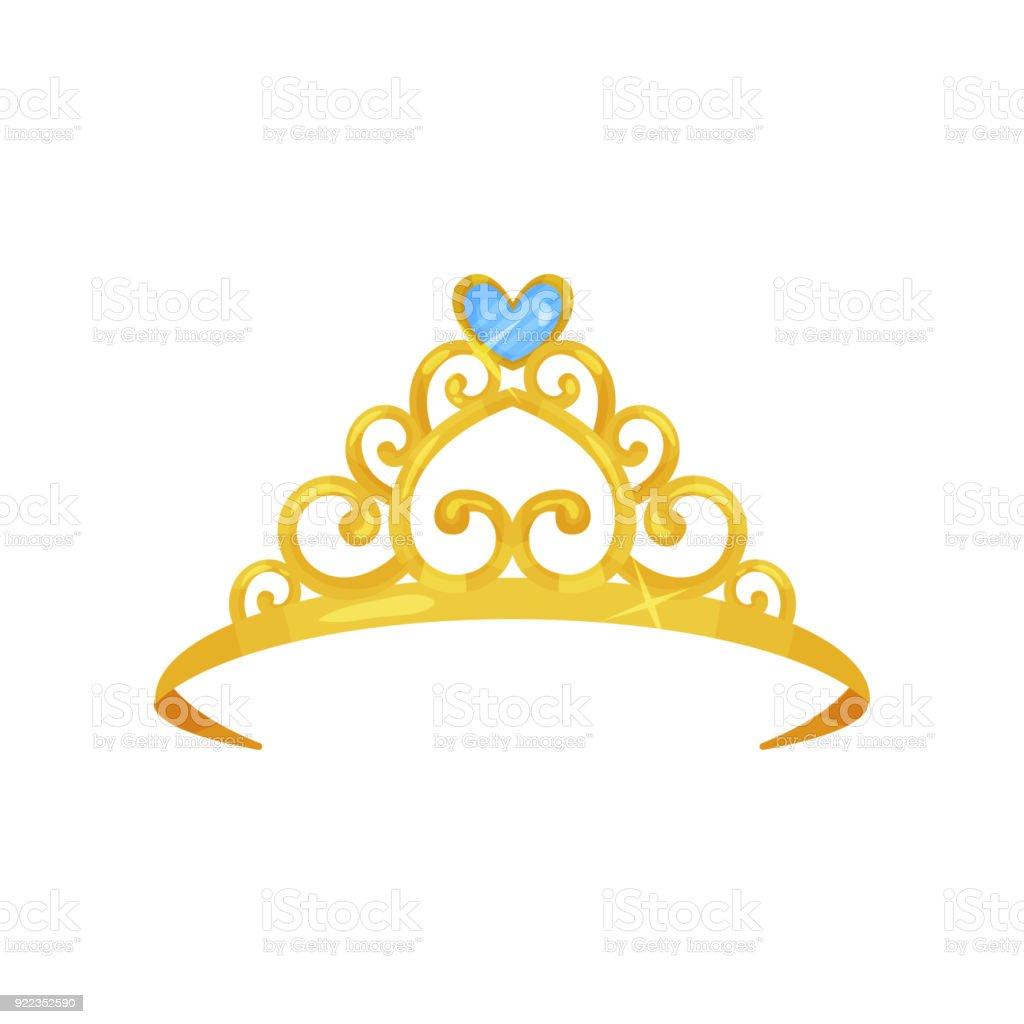 Ilustración De Colorida Ilustración De Oro Corona De La Princesa