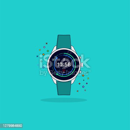 Colorful Icon/Illustration of Smart Watch.