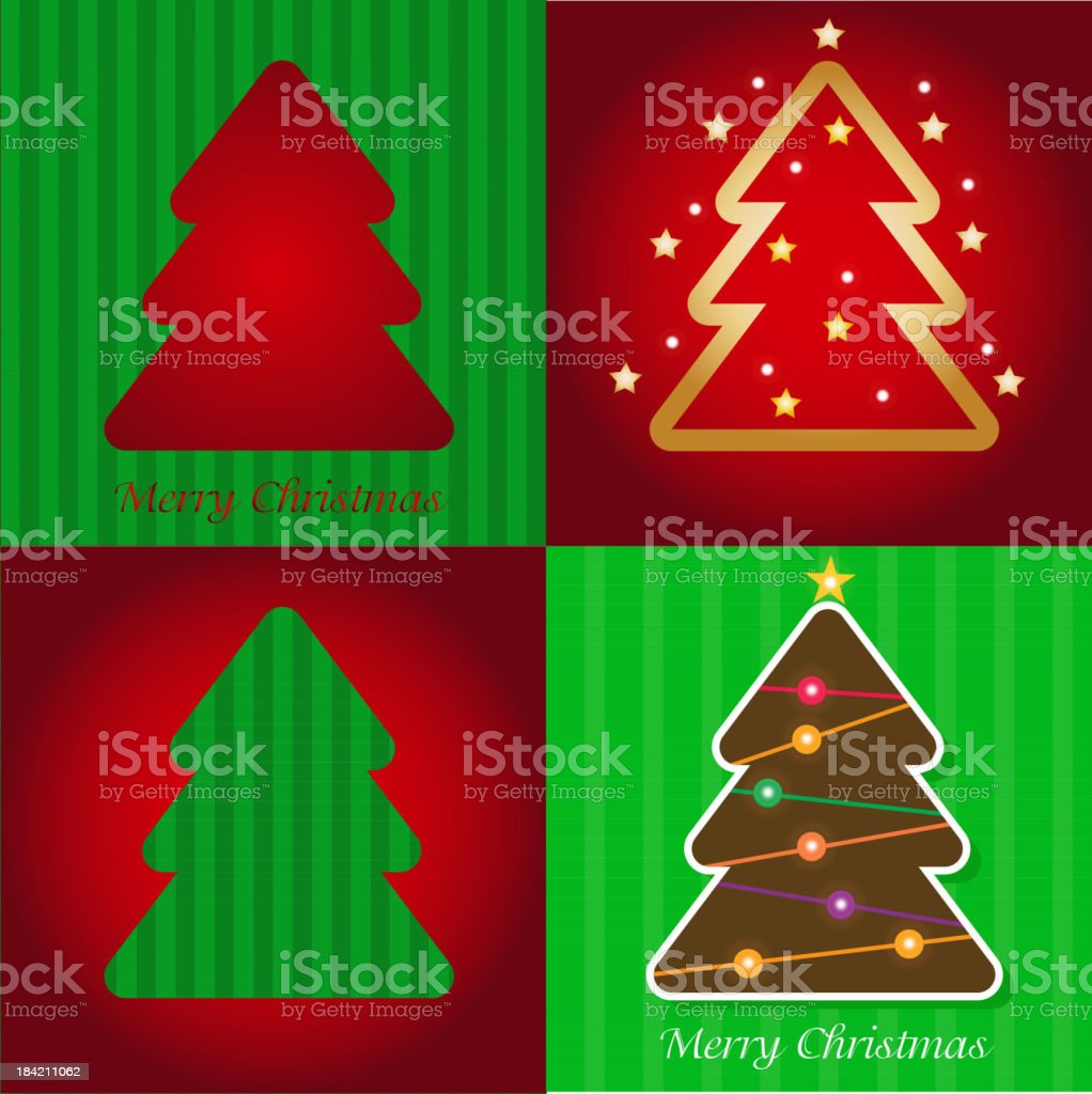 Colorful illustration with Christmas tree. vector. royalty-free colorful illustration with christmas tree vector stock vector art & more images of abstract