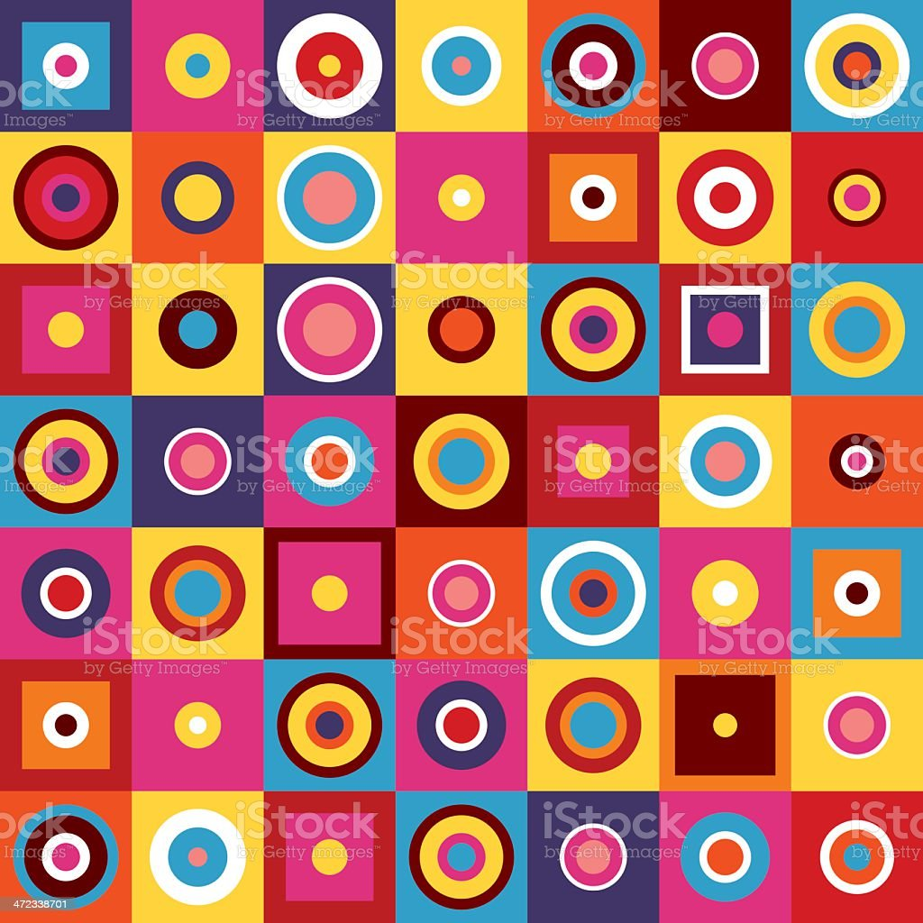 Colorful image of bright circles and squares royalty-free colorful image of bright circles and squares stock vector art & more images of abstract