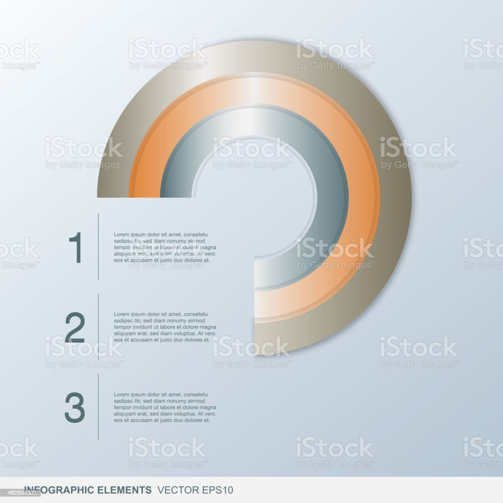 colorful infographic circle elements vector art illustration