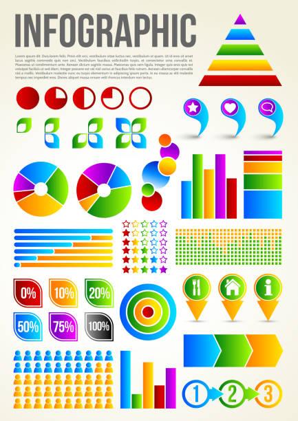 na infografika szablon - bar lokal gastronomiczny stock illustrations
