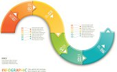 istock Colorful Infographic wave element 477852867