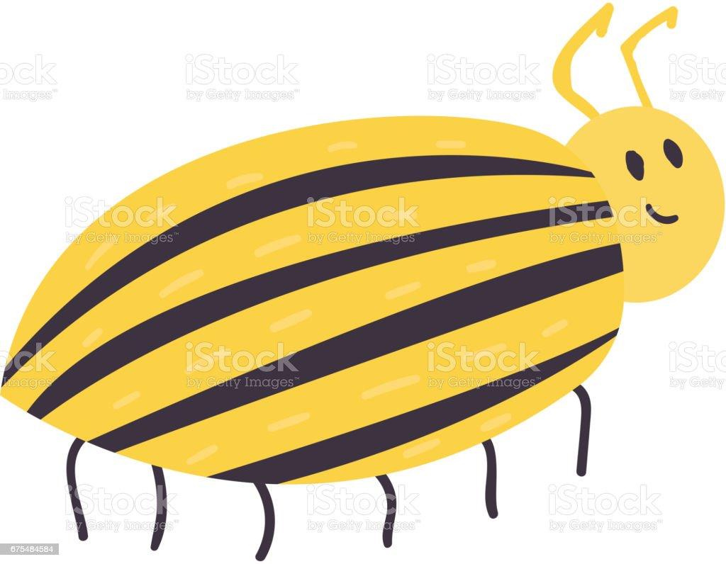 Renkli böcek simgesini yaban hayatı kanat elle çizilmiş hata vahşi Patates böceği vektör illüstrasyon izole royalty-free renkli böcek simgesini yaban hayatı kanat elle çizilmiş hata vahşi patates böceği vektör illüstrasyon izole stok vektör sanatı & abd'nin daha fazla görseli