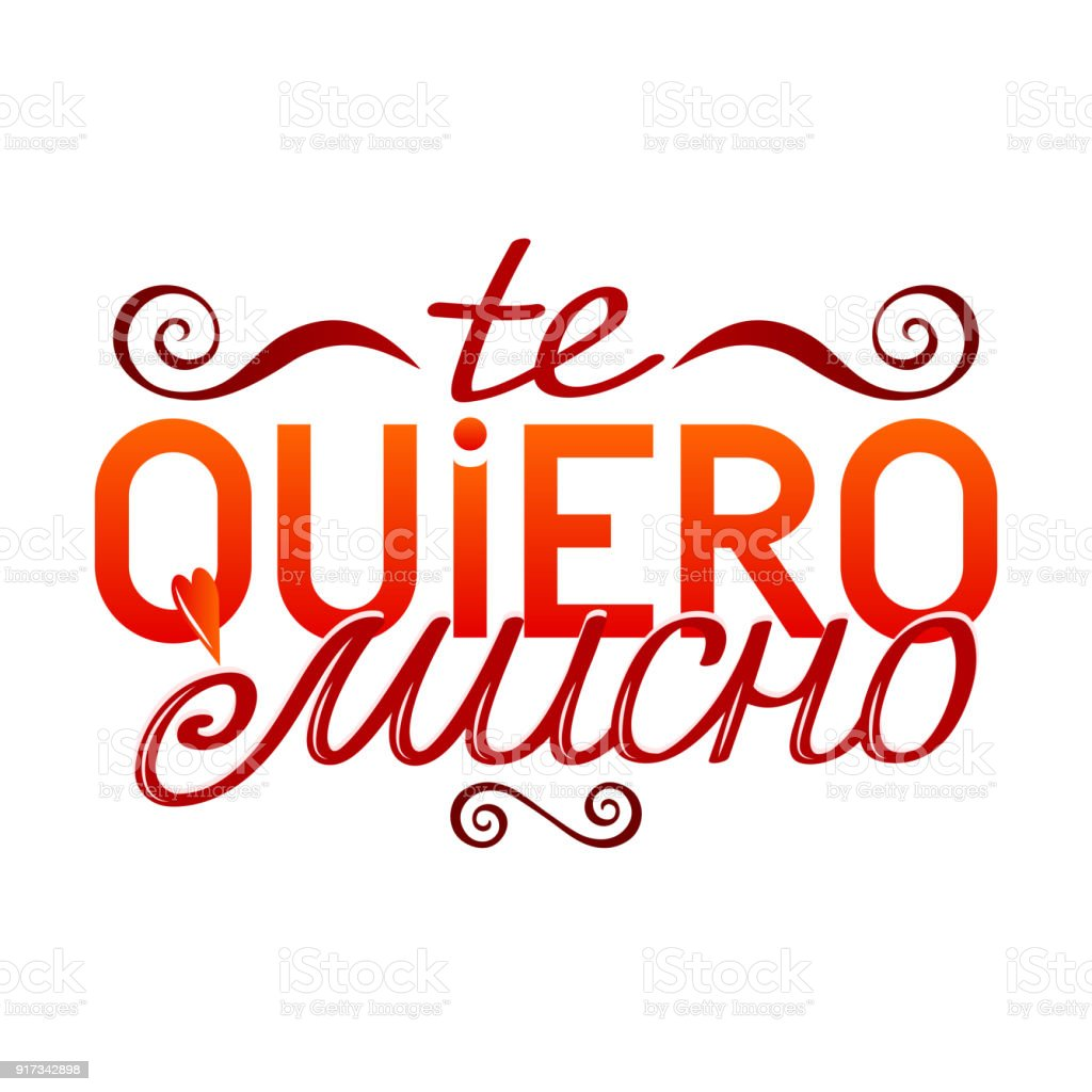 Colorful Isolated Hand Drawn Decorative Quote In Spanish Language
