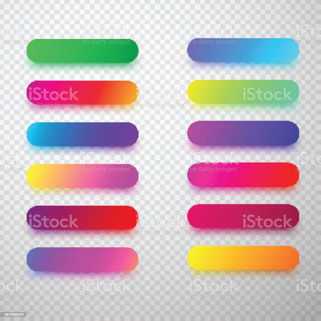 Colorful Isolated Rounded Icon Templates Stock Vector Art & More ...