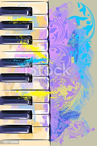 Colorful Keyboard, all elements are in separate layers and grouped.created as very artistic painterly style. Please visit my portfolio for more options. http://i1136.photobucket.com/albums/n483/Nagendra_art/media-1.jpg?t=1291448607