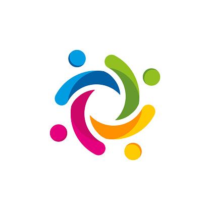 colorful Kids Education Logo Template designs vector illustration