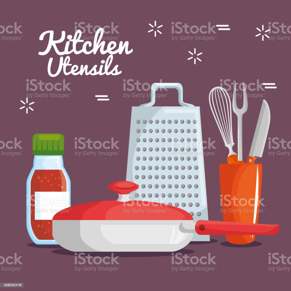 colorful kitchen utensils. Colorful Kitchen Utensils Royalty-free Stock Vector Art \u0026amp; More Images