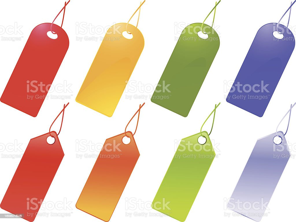 Colorful Labels royalty-free stock vector art
