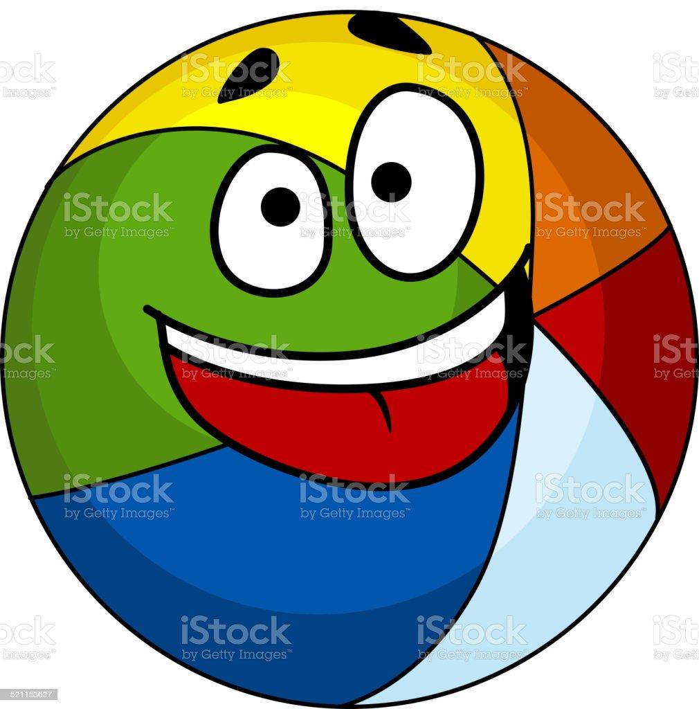 カラフルな笑うカットイラストビーチボール 1人のベクターアート素材や