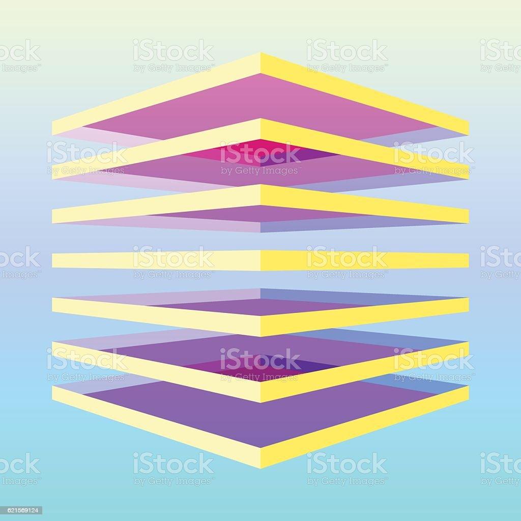 Colorful layered shape colorful layered shape – cliparts vectoriels et plus d'images de abstrait libre de droits