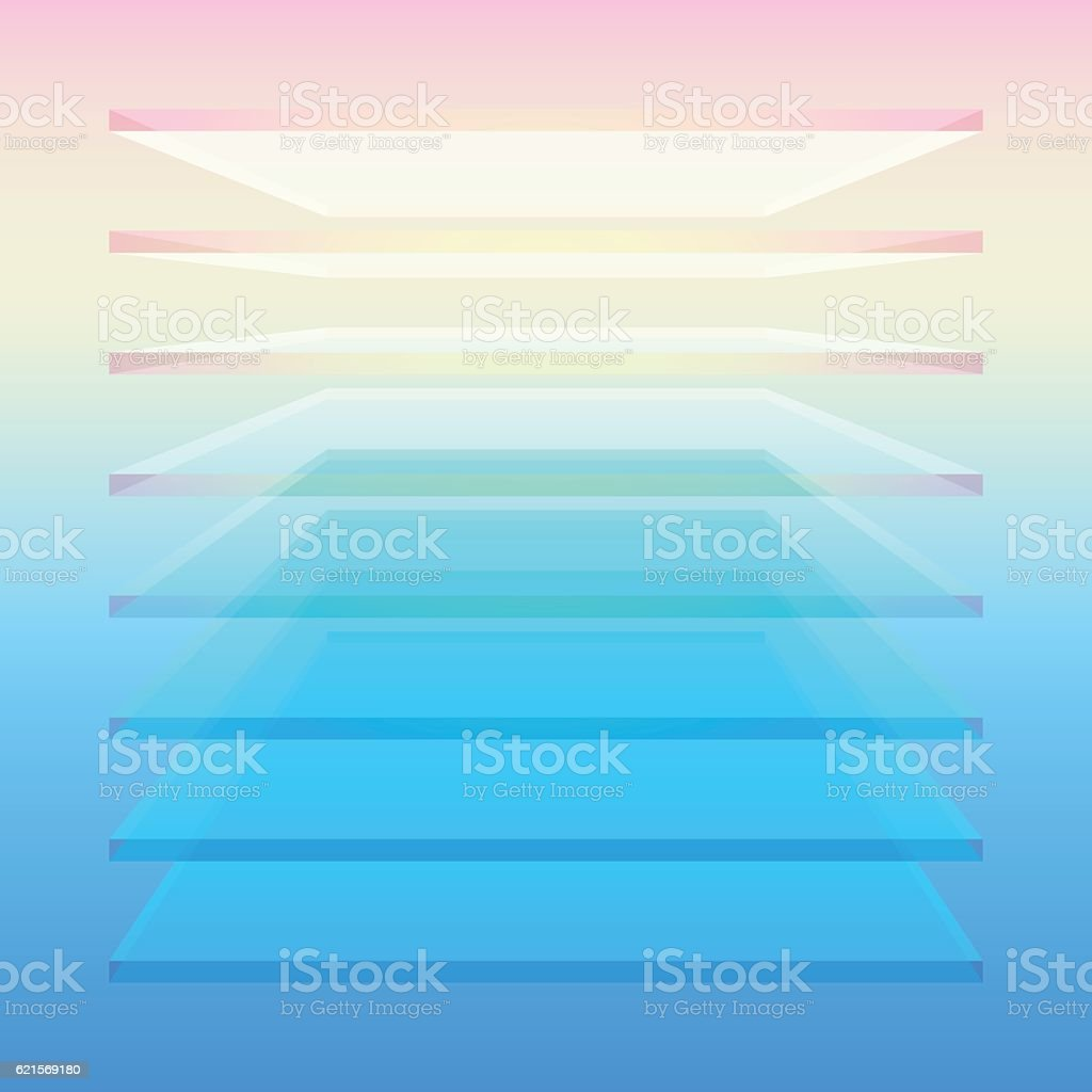 Colorful layered shape colorful layered shape - immagini vettoriali stock e altre immagini di astratto royalty-free