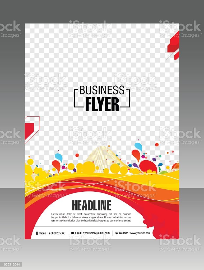 colorful layout business brochure layout flyer template stock