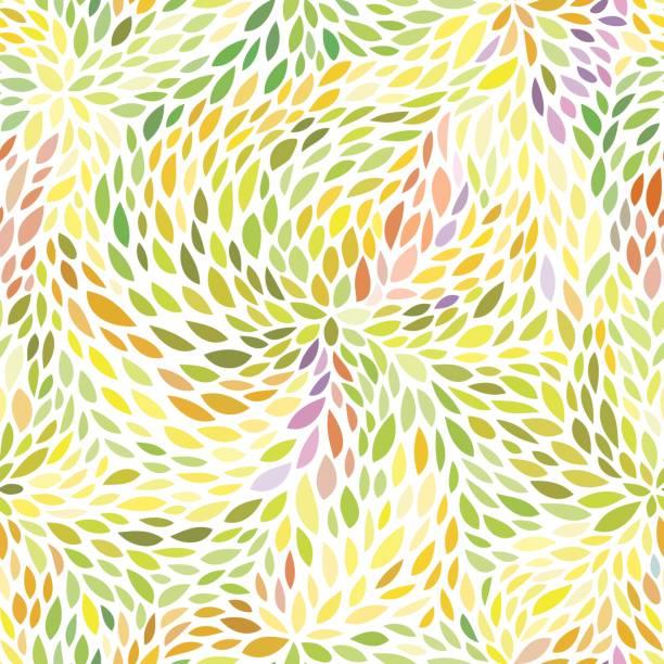 五顏六色的葉子樣式 - 葉狀花紋 幅插畫檔、美工圖案、卡通及圖標