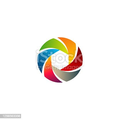 Colorful Lens  designs template, Modern Lens Photography symbol,  symbol icon