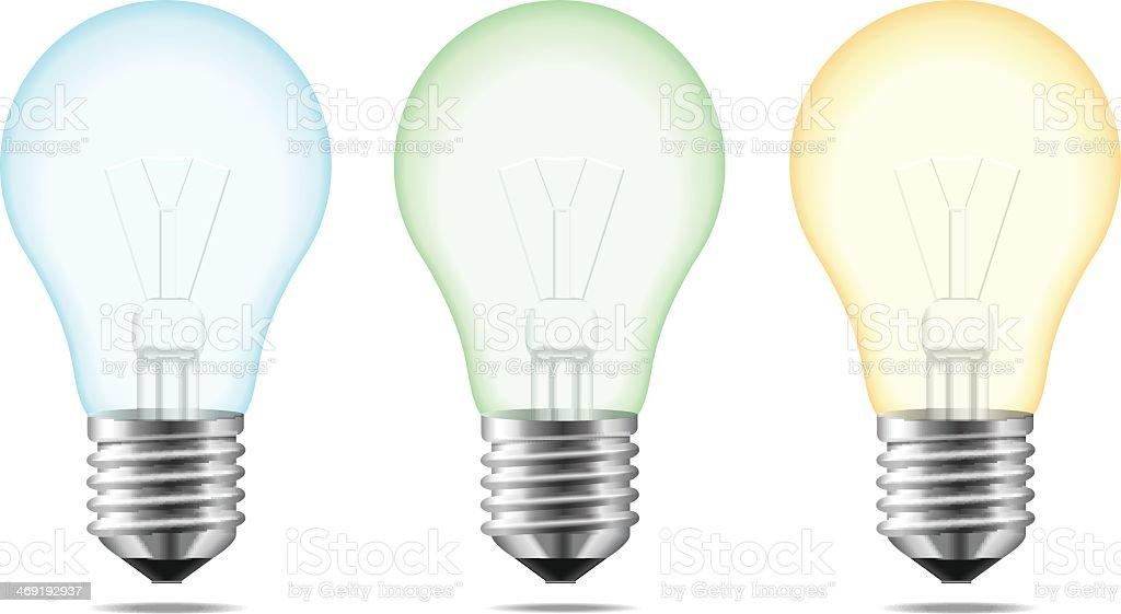 Lampadine colorate immagini vettoriali stock e altre immagini di