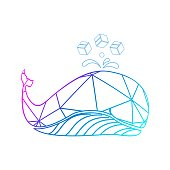 istock colorful line art whales for marine transportation logo and vector icon 1227064252