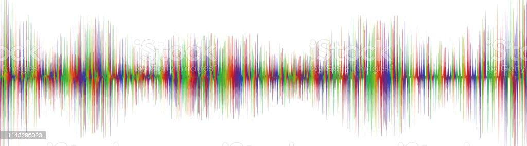 Colorful Line Digital Sound Wave,earthquake wave concept,design for...
