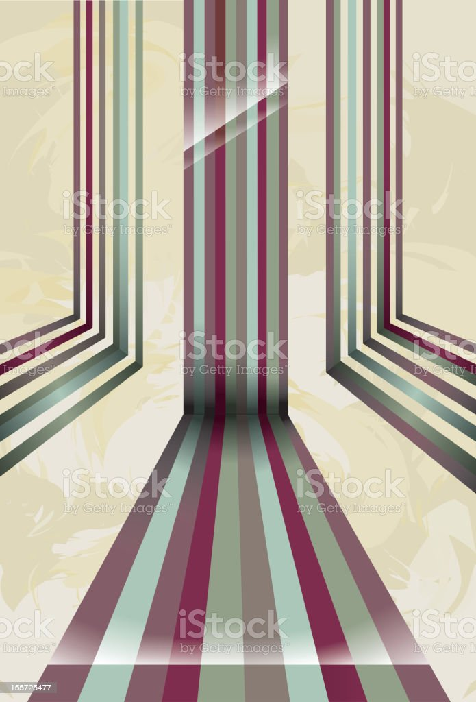 Colorful lines in perspective royalty-free stock vector art