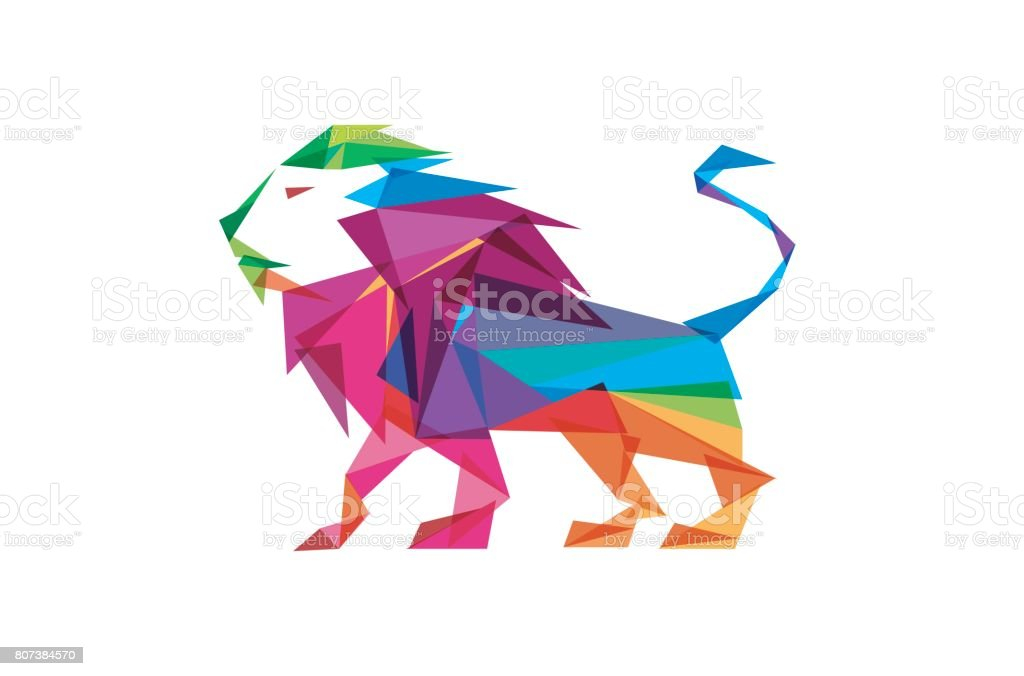 Colorful Lion Body Design Royalty Free Stock Vector Art Amp
