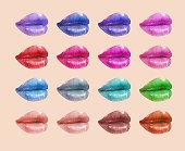 Colorful lips set