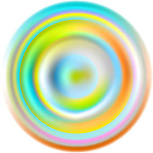colorful rippled paint drop design element